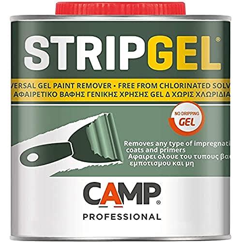 Camp STRIP GEL, Sverniciatore professionale in gel per legno, ferro e muro, Elimina vernici,...