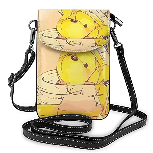 XCNGG Kleine Geldbörse Women's Small Crossbody Bag with Shoulder Strap,Winnie The Pooh Falls into a Honey jar Small Cell Phone Purse Wallet with Credit Card Slots