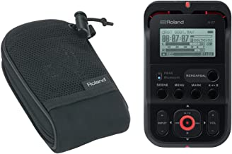 Roland R-07 Handheld Audio Recorder Black (R-07-BK) with Free Roland Carry Pouch