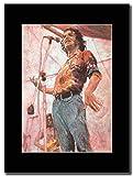 Joe Cocker - Woodstock ...Magazin Promo auf einem schwarzen