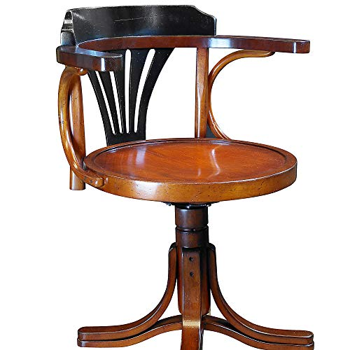 Authentic Models Purser's Chair, Black & Honey