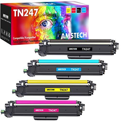 Amstech Compatibile per Brother TN247 TN-247 TN-243 TN243 TN247BK Toner per Brother DCP-L3550CDW MFC-L3730CDN HL-L3230CDW Brother HL-L3210CW MFC-L3770CDW MFC-L3750CDW DCP-L3510CDW HL-L3270CDW