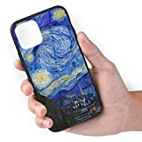 TMVFPYR Vincent Van Gogh The Starry Night Case for iPhone 11 Pro, TPU Soft-Edge Scratch-Resistant Protective Hard Case with Bullet-Proof Glass