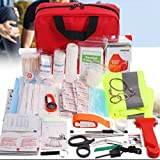 Kit De Emergencia De Primeros Auxilios De 222 Piezas, Estuche Y Bolsa De EVA Compacta Y Portátil para Atención De Emergencia Familiar, Bolsa Médica para Acampar Al Aire Libre, Senderismo
