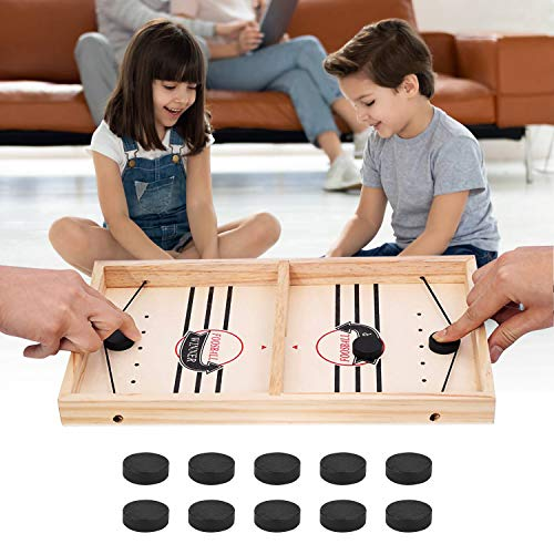 Schnelles Sling Puck Spiel, Brettspiel Hockey, Airhockey Tisch, Holzspiele, Shuffleboard, Klask Spiel, Partyspiele, Air Hockey, Holz Spielzeug, Speedy Roll
