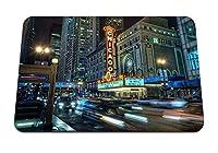 22cmx18cm マウスパッド (シカゴシティナイトライト建物地下) パターンカスタムの マウスパッド