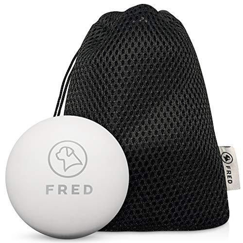 FRED Premium Hundeball aus Naturkautschuk - sehr robuster Hundespielball nahezu unkaputtbar- 6,5cm Ø inkl. praktischer Aufbewahrungstasche