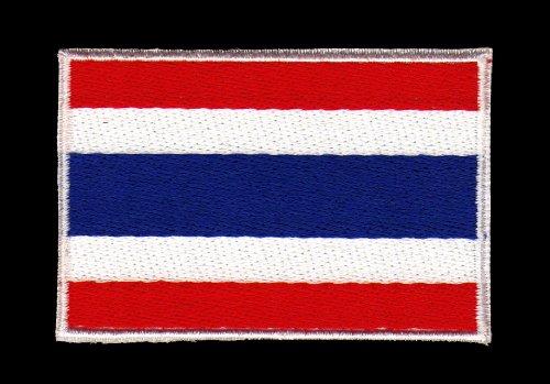 Aufnäher Bügelbild Aufbügler Iron on Patches Applikation Flagge Thailand