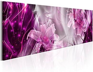 murando - Cuadro de Cristal acrílico 120x40 cm Impresión de 1 Pieza Pintura sobre Vidrio Imagen Gráfica Decoracion de Pared – Flores Abstracto a-C-0061-k-b