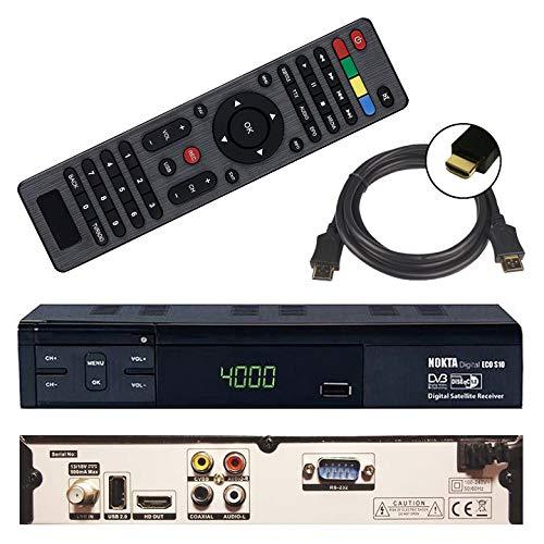 HD Sat Receiver Nokta ECO S10 (USB, HDMI, Audio Cinch, Digital Audio Out, Full HDTV, DVB-S2) + GRATIS HDMI Kabel - netshop25 Set