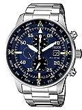 Citizen, Reloj con cronógrafo para hombre, de la colección Aviator Chrono CA0690–88L