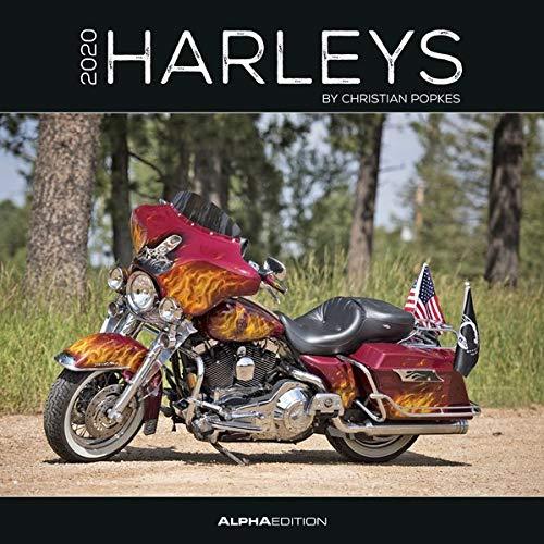 Harleys 2020 - Broschürenkalender (30 x 60 geöffnet) - Wandkalender - Motorradkalender - Fahrzeuge - Wandplaner: by Christian Popkes