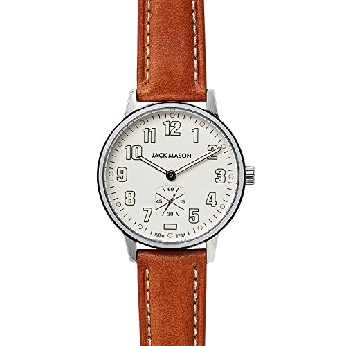 Field Sub Second 38mm SS White Dial Tan Leather Strap