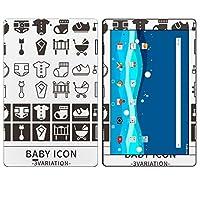 igsticker Qua tab PZ LGT32 全面スキンシール タブレット tablet LGエレクトロニクス シール ステッカー ケース 保護シール 背面 016293 赤ちゃん アイコン ベビーシャワー