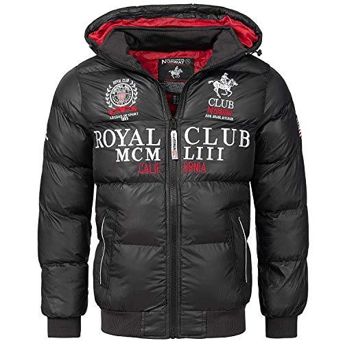Geographical Norway heren gewatteerde jas winterjas met capuchon - Gevoerd warm anorak - Outdoor SKI snowboard jas met capuchon voor de winter/herfst in bundel met UD beanie