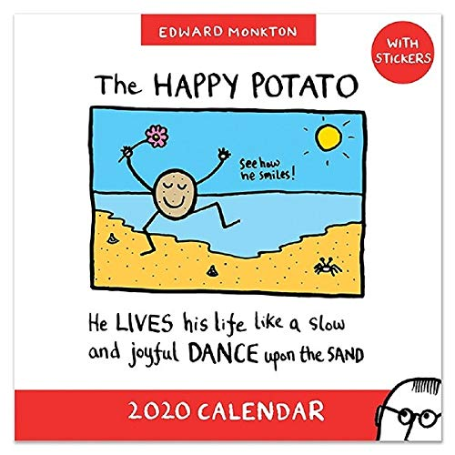 Edward Monkton 2020 Family Square Wall Calendar with Reminder Stickers