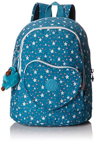 Kipling Heart Backpack Mochila Infantil, 32 cm, 9 Liters, (Cool Star Girl)