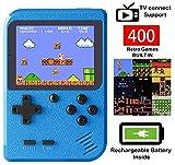 Handheld Spielkonsole Tragbare Retro-Minispieler mit 400 klassischen FC-Spielen...