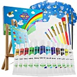 Gorgeous Kids Paint Set - 33-Piece Acrylic Painting Supplies Kit with Brushes, Paints, Canvas and Easel - The Perfect...