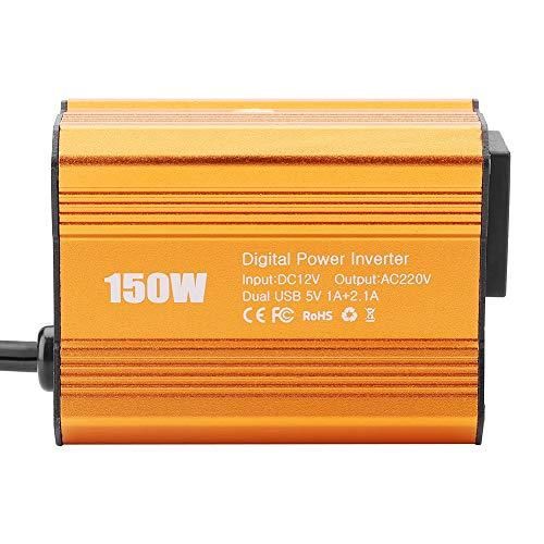 Akozon Power Inverter JW-150W DC12V zu AC110V / 220V Netzteil-Hochsetzsteller Step-up-Modul(12V bis 220V)