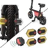 PTMD Fahrrad-Blinker, Kabellos, Mit Fernbedienung, Für Vorne Und Hinten, 1 Set Mit 4 Lichtern, Blinker Fahrrad