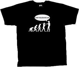 Trenz Shirt Company Evolution Tee Stop Following Me Caveman