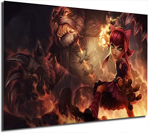 League Legends - Póster decorativo para pared, diseño de Annie Gaming (61 x 91 cm), color negro