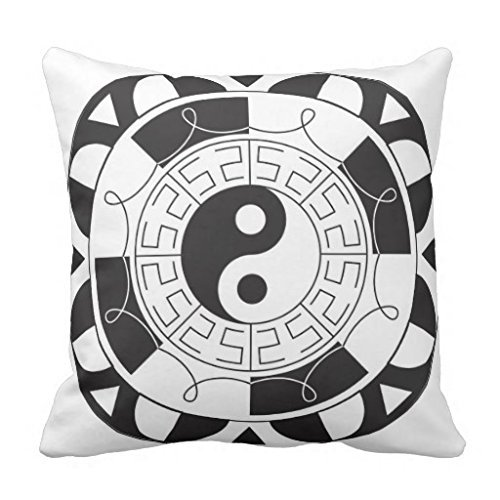 Black And White Yin Yang Pattern pillowcase 20*20