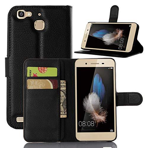 betterfon | Buch Tasche Hülle Etui Book Case Cover Schutz Hülle Handy Tasche für Huawei P8 Lite Smart / GR3 Schwarz