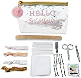 Kate Aspen Hello Gorgeous Glitter Bag Survival Kit Gift Set, Perfect Favors for Wedding Parties, Bridal Shower