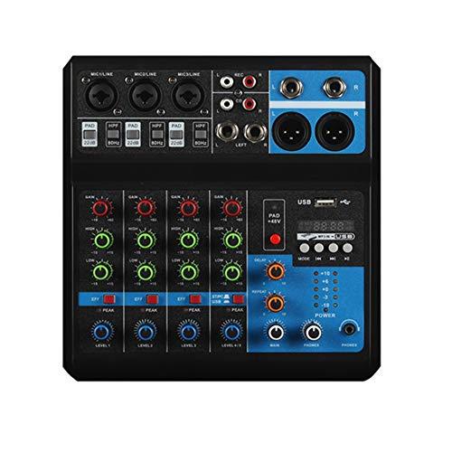 Mini Mezclador de Audio profesional 5 canales controlador de DJ bluetooth USB reverberación computadora etapa Lifeshow consola mezcladora(5canales)