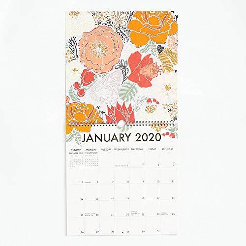 "Paper Source 2020 12 Month Art Grid Calendar, 12"" x 12"""