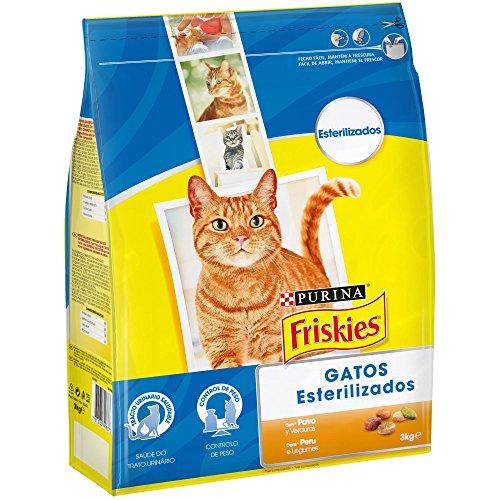 Purina Friskies Esterilizados Pienso para Gato Adulto Pavo y Verduras 4 x 3 Kg ✅