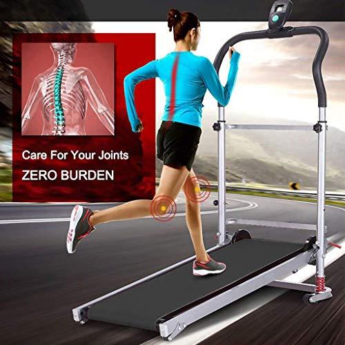 HAen Folding Shock Running Treadmill, Supine, 4-in-1 Mechanical Treadmill,Non-Electric Treadmill, No Power, Mechanical Walking Machine (UK 3-5 Day)