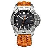 [ビクトリノックス] 腕時計 I.N.O.X. PROFESSIONAL DIVER サンドブラスト加工ステンレススチールケース(316L/鍛造) ブラックダイヤル オレンジパラコードストラップ 241845 メンズ 正規輸入品 オレンジ