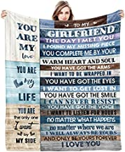 to My Girlfriend Blanket Girlfriend Gifts I Love You Blessing Sweet Sayings Quote Throw Blankets Birthday Gifts for Her Anniversary Present Soft Blankets for Bed Sofa and Couch 60x50 inch