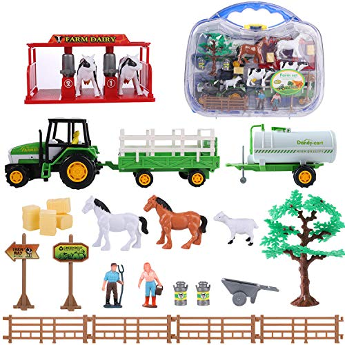 Play Farm Toy, Farmyard Play Set for Toddler (Farm Toy Set 1)