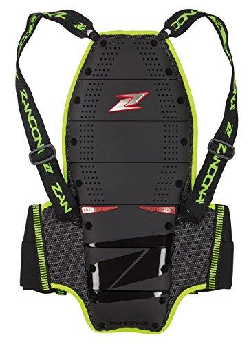 Zandonà Protection dorsale Spine EVC x9 haute visibilité, hauteur 188/197 cm (taille 86-93 cm), noir, M