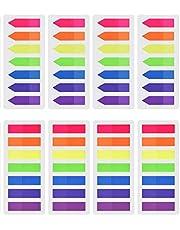 Febbya Marcador de Página, Sticky Notes 8 Sets 1120 Piezas Marcadores Adhesivos Notas Agudas y Planas para Marke Hand Account Recipes Diary Revistas y Libros de Texto