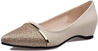 Flats Shoes Women Comfortable Pointy Toe, NEEKEY Fashion Sequins Flat Bottom Single Shoes Casual Shoes