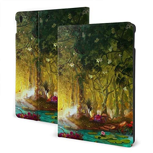 Ipad 2019 7th Generation 10.2 Inch Case, Ipad Air 3 10.5 Inch Case, Forest Flowers Leather Full Body Protective Covers, Adjustable Stand with Auto Wake/Sleep