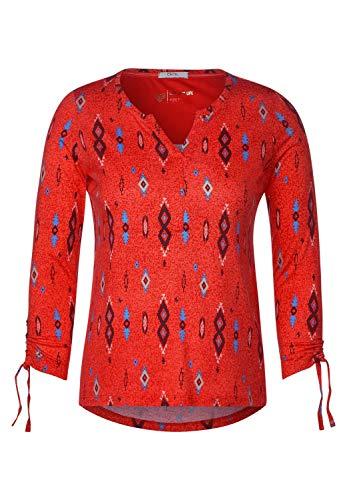 Cecil Damen Tunika-Shirt mit Ethnoprint Funky orange S