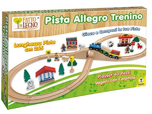 Teorema 40505 - Pista Allegro Trenino in Legno, 40 Pezzi
