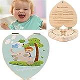 Love Heart English Kids Tooth box organizer gufo/Elephant color Paint Baby Save denti da l...
