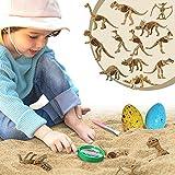 Axel Adventures Dinosaur Explorer Kit, Dinosaur Toys for Kids 3-5, Dinosaur Excavation Toy for Toddlers Dino Eggs Dig Kit, Dinosaur Skeleton Fossil Making, Dinosaur Figure Sandpit Toy, Boys and Girls