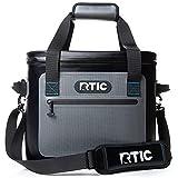 RTIC Soft Cooler 30, Blue/Grey, Insulated Bag, Leak Proof Zipper