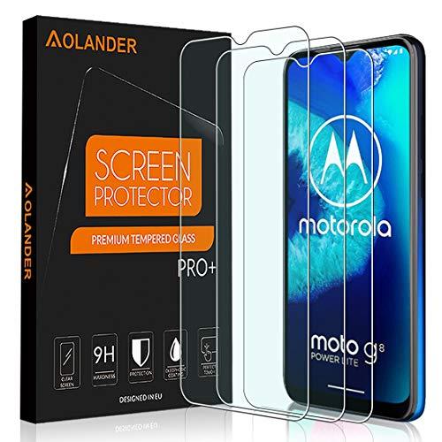 POVINMOS für Motorola Moto G8 Power Lite Panzerglas Schutzfolie, 9H Härte 5-Mal verbesserte Panzerglasfolie Hartglas Anti-Kratzer und Fingerabdruck HD Displayschutzfolie Gehärtetem Glas(3 Stück)
