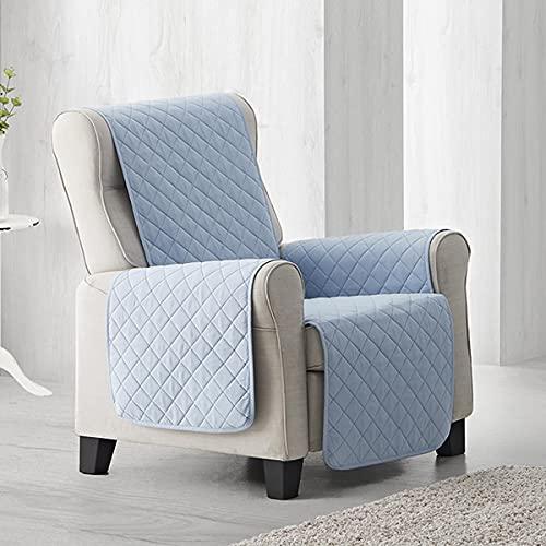 Lanovenanube Funda sillón Acolchado Sweet - Práctica - 1 Plaza - Color Azul Claro