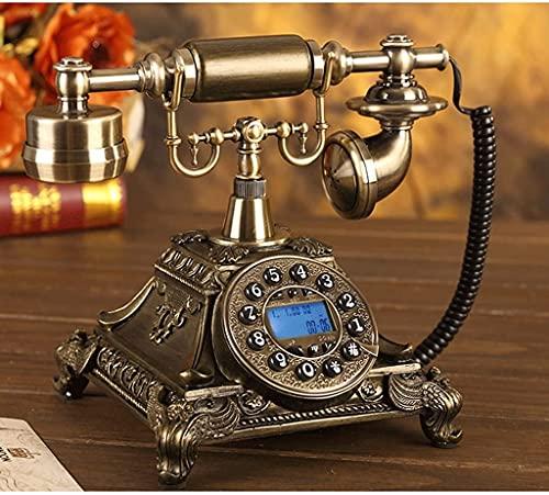 CWZY Clásico Europeo Retro teléfono Fijo teléfono Vintage Retro Tocadiscos Teclado teléfono Oficina Oficina Creativa teléfono (Size : Button)