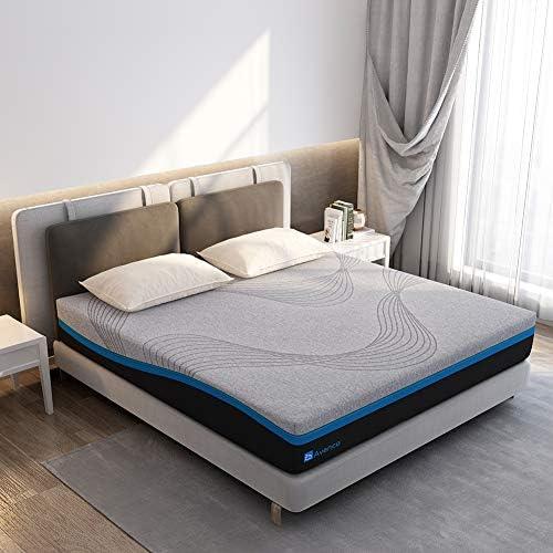 Queen Mattress Avenco Grey Queen Memory Foam Mattress 10 Inch Queen Size Mattress in a Box with product image